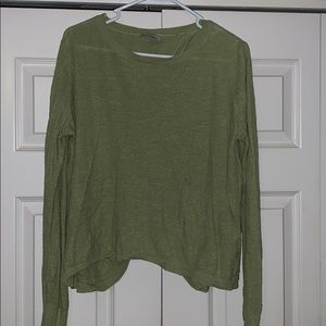 Lime Sweater with cross open back